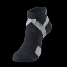 法藤日本进口护踝运动袜跑步马拉松篮球健身运动袜时尚潮流短袜 黑/浅灰25-27cm 默认1