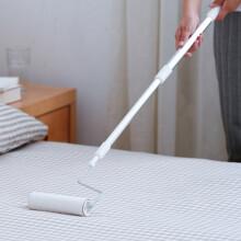 雅高 可伸缩加长柄粘毛器滚筒大号可撕式家用地板地毯清洁除尘黏头发沾毛器+8卷纸