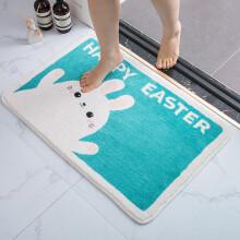 京东超市绿之源 地垫羊羔毛脚垫地毯浴室吸水防滑垫 小兔子50*80cm卫生间门口入户