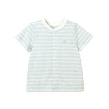 京东超市英氏婴儿内衣上衣男女宝V领单排扣居家服夏季 184B0331男宝 73CM