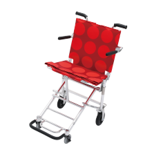 中进轮椅nah207折叠轻便日本进口航太铝合金na413超轻便携式老人旅游可上飞机代步简易小轮手推车 NAH-207conlo系列红色圆点