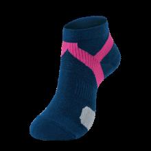 法藤日本进口护踝运动袜跑步马拉松篮球健身运动袜时尚潮流短袜 藏青/桃红22-24cm 默认1