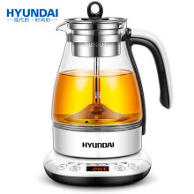 现代(HYUNDAI)养生壶蒸茶壶玻璃加厚煮茶壶蒸汽喷淋式煮茶器智能控温全自动多功能电水壶QC-ZC1155