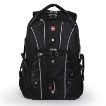 SWISSGEAR 瑞士双肩包男商务大容量游戏笔记本电脑包17.3英寸多功能学生书包旅行背包SA-9850c黑色