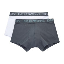EMPORIO ARMANI UNDERWEAR 阿玛尼奢侈品20春夏男士两条装内裤 111769-0P720 GREYWHITE-00610 M