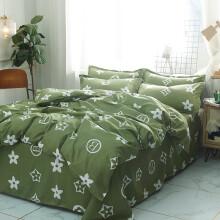 单人床三件套 北欧床上用品床单网红1.5m被套三件套学生宿舍单人 浅灰色 1.5米床四件套