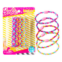 芭比 美发工具 彩色编织头绳5条装(皮筋  发饰 发绳 头绳 美发工具 颜色随机)