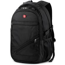 SWISSGEAR瑞士包双肩包华为电脑包15.6英寸 商务背包男女休闲大容量旅行包中学生书包 SA-9037黑色