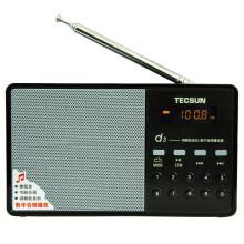 德生(Tecsun)D3 调频收音机+数字音频播放器 插卡收音机老年人插卡MP3迷你小音箱响/便携半导体(黑色)