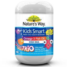 京东国际Nature's Way 澳洲进口 佳思敏三色儿童鱼油DHA补充大脑180粒 三色鱼油180粒*1瓶
