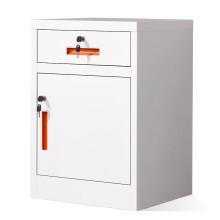 奈高文件柜办公柜矮柜钢制铁皮柜档案床头柜橘色拉手一斗一门