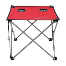 探路者户外钓鱼野餐折叠桌子 ZEAF80201 深红色