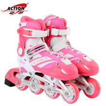 乐士(ENPEX) 动感溜冰鞋 儿童 成人 轮滑鞋 男女PU轮旱冰鞋滑冰鞋 PW126 粉色S号(32-35码)