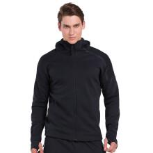 范斯蒂克 卫衣男运动休闲跑步健身经典黑白色运动上衣 MBF074 黑色 L