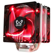 大镰刀(SCYTHE)赤兔马STB120 PLUS CPU散热器(支持AMD、AM4、intel 多平台/4热管/12cm温控红光双风扇)