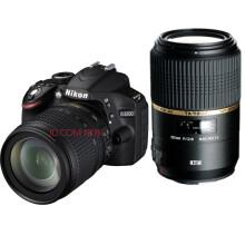 尼康(Nikon)D3200单反双头套(18-105VR +腾龙90微距防抖VC )