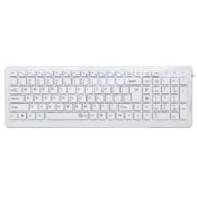 e元素 ET-3753 有线键盘 笔记本台式外接 USB电脑巧克力键盘 白色