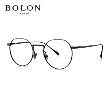BOLON暴龙光学镜男女款眼镜架复古金属圆框光学架BJ7009B10