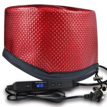 天星TX-001碳纤维定时定溫液晶电子护发电热帽 酒红色(家用焗油膏发膜护发加热帽 电热蒸发帽)