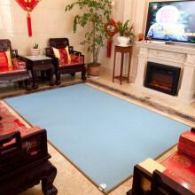 茂阳(maoyang) 碳晶地暖垫电热移动地暖垫电热毯地暖毯办公室电热地板地热暖发热脚垫 301蓝色 200X200cm(智控款)