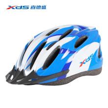 喜德盛(xds) 骑行头盔LW822公路山地自行车一体式流线型安全帽男女单车通用骑行装备 蓝白
