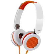 松下(Panasonic)RP-HXS200E-D 头戴式耳机 橙色 手机 电脑耳罩式耳机 酷炫耳罩 非凡音效