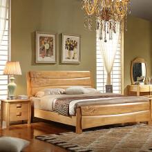 驰界(chijie)现代简约床头柜储物柜全实木雕花