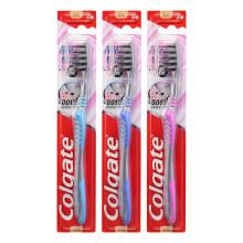 高露洁(Colgate) 超洁纤柔 牙刷 ×3(含炭新升级,透明超细软毛)(新老包装随机发放)