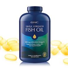 GNC健安喜 鱼油 深海鱼油 鱼油软胶囊 omega-3 gnc鱼油 360粒非 鱼肝油 成人老人 三倍强度深海鱼油软胶囊360粒*1瓶