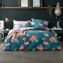 伊雅静家纺 全棉单人床上用品三件套床单被套枕套学生宿舍三件套纯棉床品套件 适用1.2米床 忠贞的爱