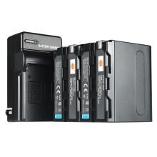 蒂森特(dste)索尼 HXR-NX3摄影机NP-F970 摄影灯 两电一充 电池套装