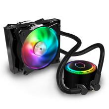酷冷至尊(CoolerMaster)冰神G120RGB CPU水冷散热器(I9 2066、AM4/ARGB灯珠/双腔水泵/低阻冷排/FEP水冷管)