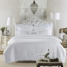 寝睡家纺 仿棉宾馆酒店纯白被套 旅店床上用品 2.0床四件套 仿棉