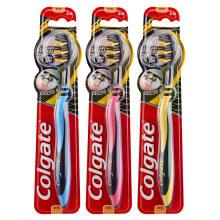 高露洁(Colgate) 适齿炭牙刷×3 (炫彩刷柄 软毛深洁)(新老包装随机发放)