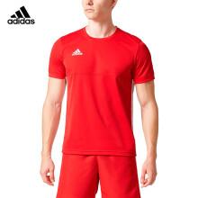 阿迪达斯 adidas 短袖T恤男 情侣男女同款 T16 TEAM 男子运动休闲服羽毛球服 红色 AJ5308 M