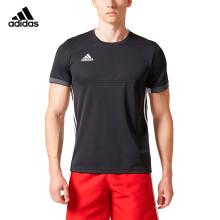 阿迪达斯 adidas 短袖T恤男情侣男女同款T16 TEAM 运动休闲服上衣羽毛球服 黑色 AJ5306 L