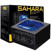 撒哈拉(SAHARA)额定350W电源 眼镜蛇550V玩家版(支持背线/带3位智能插座/12CM透明蓝灯风扇)