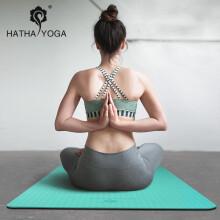 哈他专业瑜伽垫 TPE6mm环保瑜珈垫 双面防滑运动健身垫 群青(含捆绳背包)