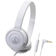 铁三角(audio-technica)ATH-S100IS HIFI音质线控通话便携头戴式耳机 白色