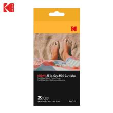 柯达(Kodak)2X3英寸相纸 柯达MINI SHOT系列拍立得相纸 热升华成像原理 色带相纸一体化 20张