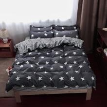 以美家纺 学生三件套宿舍寝室单人床上用品双人床单被罩 星空 0.9-1.2米床(被套1.5*2.0米)三件套