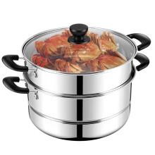 美厨(maxcook)二层蒸锅 28cm不锈钢蒸锅可蒸可煮 电磁炉燃气炉煤气灶通用MDZ-28