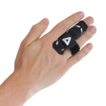 京东超市 AQ篮球排球指关节护指运动护具蓝色直筒款B30912 S/M指围5.7-6.8cm  比较适合小指 黑色加压单只装