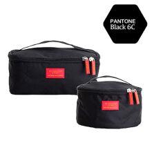 乐活MSquare大容量杂物袋数码包 大号防水尼龙手提收纳袋 超轻便携户外旅行用品 酷黑色 长方形