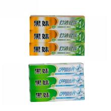 黑妹 牙膏 套装 植物薄荷清新口气牙膏家庭装组合 固齿钙3支+竹清健齿3支