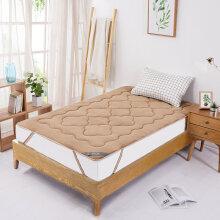 博洋家纺(BEYOND)四季保暖席梦思防滑床垫被子 单人学生宿舍可折叠榻榻米垫子珊瑚绒床褥(驼色)120*200cm