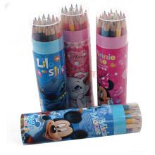 马可/迪士尼24色彩色铅笔圆筒装 学生绘画工具儿童铅笔 彩色铅笔小...