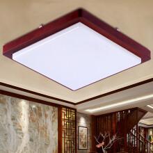 飞利浦(PHILIPS)LED吸顶灯简约中式创意木框客厅灯卧室灯具中国风可调光 馨欣60W