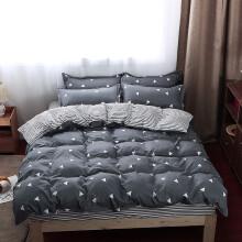 以美家纺 学生三件套宿舍寝室单人床上用品双人床单被罩 爱巢 0.9-1.2米床(被套1.5*2.0米)三件套