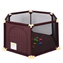贝得力(BEIDELI) 贝得力 儿童婴儿游戏围栏 宝宝爬行垫学步护栏 爬行垫围栏安全栅栏 游戏围栏【小号】  送海洋球100个